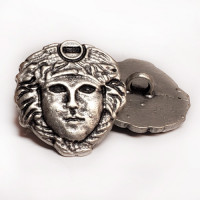M-7923 - Medusa Head Metal Fashion Button, 7/8""