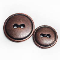 M-3985 - Metal 2-Hole Button, 2 Sizes