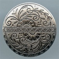 M-907A-Concho Style Metal Button