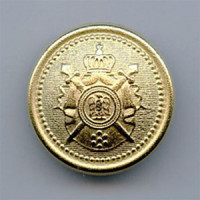 M-9191-Matte Gold Crest Button