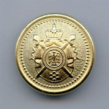 M-9191-Matte Gold Crest Button, 2 Sizes