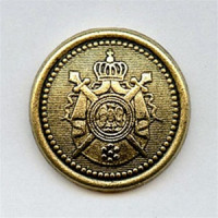 M-9192 Antique Gold Crest Button