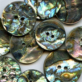 MA-1140 Mexican Abalone Button, 2 Sizes