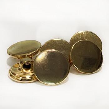 MG-1217 - Gold Shirt Button, 2  Sizes - Priced per Dozen