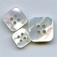 MP-440-Square Mother of Pearl Button, 3 Sizes