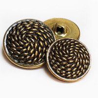 "MTL-21-D  Antique Gold Metal Fashion Button, 3/4"" Only - Priced By the Dozen"