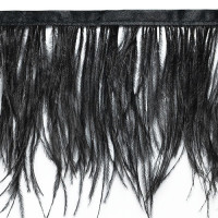 FEA-153 Black Ostrich Feathers on Tape