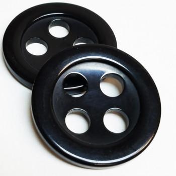 """NV-1123-Black 1 3/4""""  Fashion Button"""