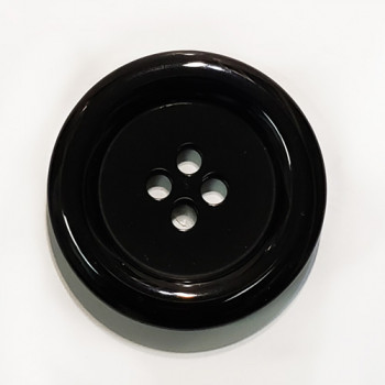 NV-1130-B Large Black Fashion Button, 1-3/4""