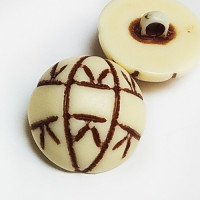 NV-1292  Imitation Bone Fashion Button, 3 sizes