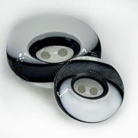 NV-1324 White and Black Fashion Button - 4 Sizes