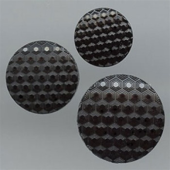 NV-1340 Black Fashion Button, 3 Sizes
