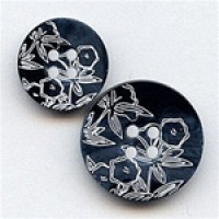 NV-1730 Navy and White Floral Laser Design, 2 Sizes