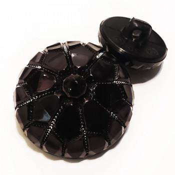 NV-1999 - Black Fashion Button, 3 Sizes