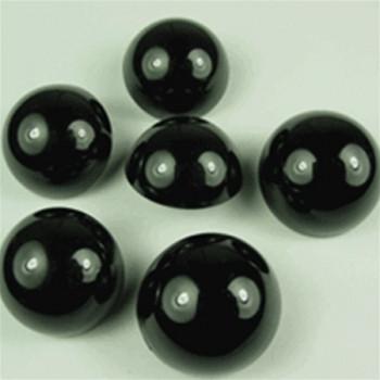NV-1321-Hi-Dome Black Button, 3 Sizes