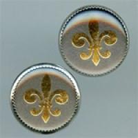 OCA-099-Fleur-de-Lis Button