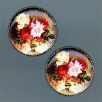 OCA-100-Vintage Roses Button