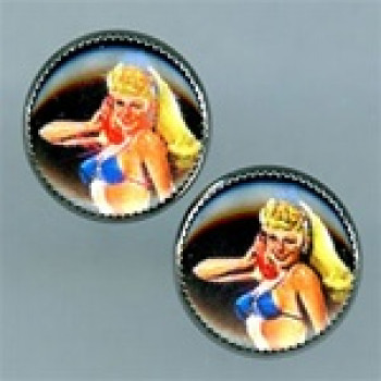 OCA-1410- Pinup Girl Button