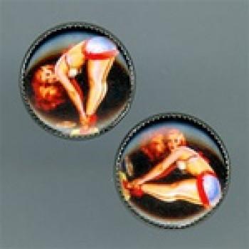 OCA-141- Pinup Girl Button