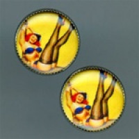 OCA-142- Pinup Girl Button