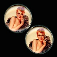 OCA-232- Pinup Girl Button