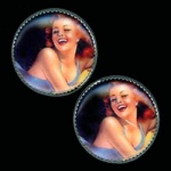 OCA-234- Pinup Girl Button