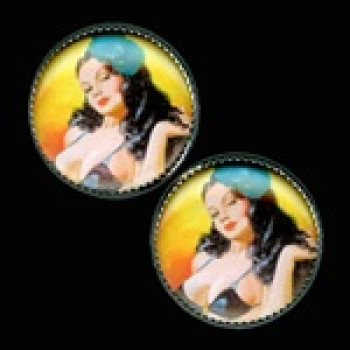 OCA-235- Pinup Girl Button
