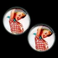 OCA-241- Cowgirl Pinup Button