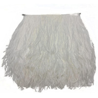 FEA-152  White Ostrich Feathers on Tape