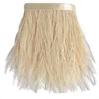 FEA-157 Ivory Ostrich Feathers on Tape