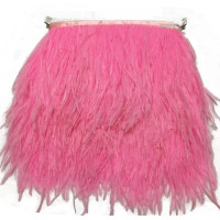 FEA-156 Pink Ostrich Feathers on Tape