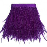 FEA-154 Purple Ostrich Feathers on Tape