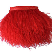 FEA-155 Red Ostrich Feathers on Tape