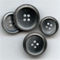 P-0365-Smoke Pearl Fashion Button, 4 Sizes