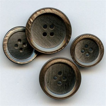 P-0366 Smoky Brown Pearl Fashion Button, in 4 Sizes