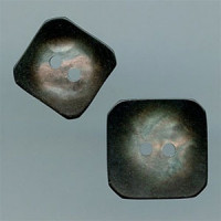P-1185-Square Smoke Pearl Button