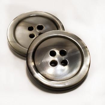 "P-1290 Smoky Grey Pearl Button, 1"""