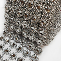 RCH-60 Faux Rhinestone Mesh, 6 Row -- Sold by the Roll (10 yds.)