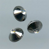 RGM-229 Silver Gunmetal Button with Swarovski Rhinestone