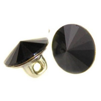 3001-Jet Black Swarovski Button