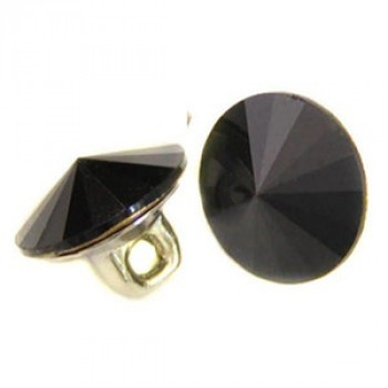 3001-Jet Black Swarovski Button