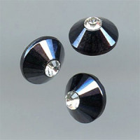 RHP-096 Swarovski and Gunmetal Button
