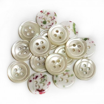 SB-019- Mother of Pearl look - 3 sizes, Priced per Dozen