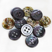SB-020 -Smoke Mother of Pearl look - 2 sizes, Priced per Dozen