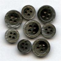 SB-022 - Smoke Shirt Button - 4 Sizes, Priced per Dozen
