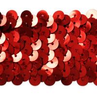"Seq-184  3/4"" - 1"" Red Metallic Stretch Sequin Trim"