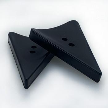 """TGA-521 - 2"""" Matte Black Triangle Toggle Button"""
