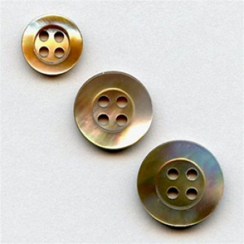 BR-200 Brown MOP Shell Button, 3 Sizes - Priced by the Dozen