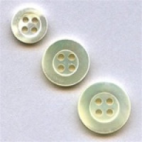 TR-200 White Trocas Shell Button - 3 Sizes Priced per Dozen