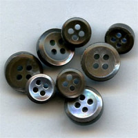 TR-8 / S - Smoke Trocas Shell Shirt Button - 3.5mm thick - 2 Sizes